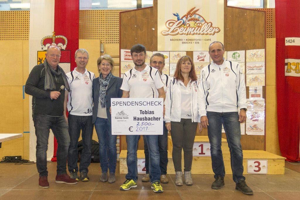 Spende 2016 für Tobias Hausbacher