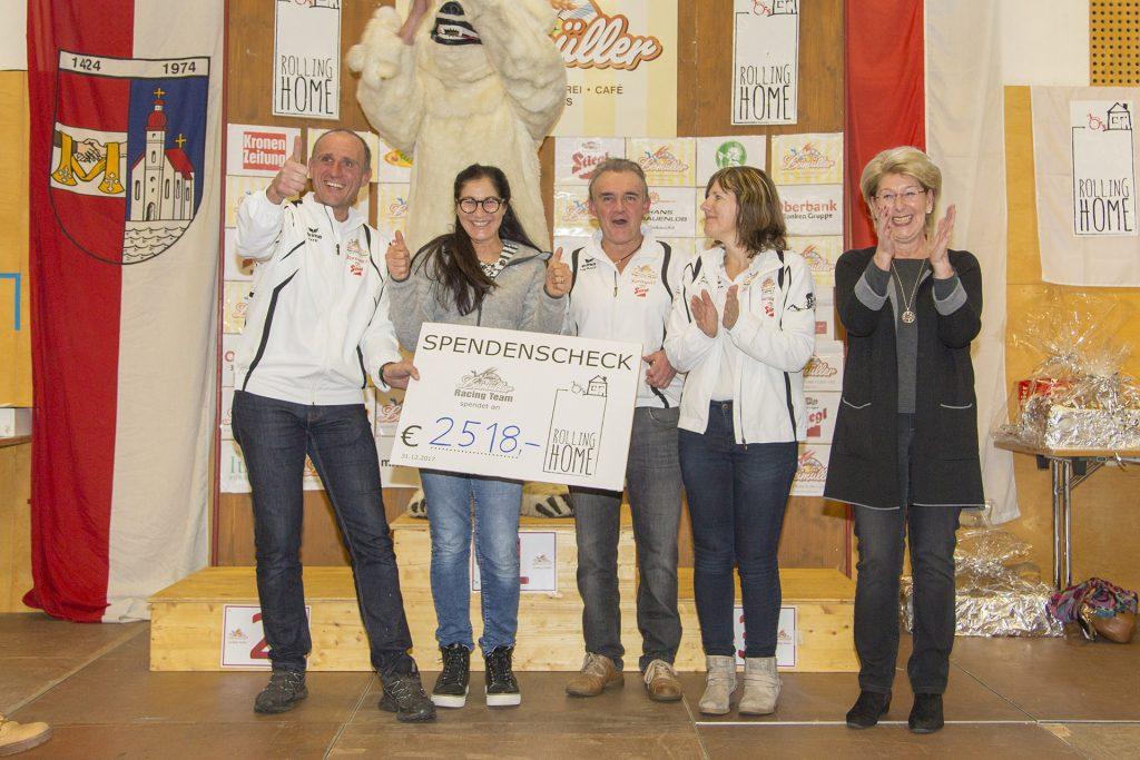 Spende 2017 für Rolling Home aus Seekirchen